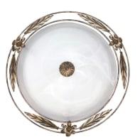 Plafoniera rustico Riccio bianco, in vetro,  D. 40 cm