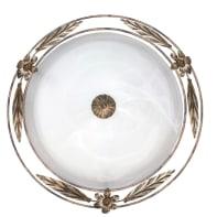 Plafoniera rustico Riccio bianco, in vetro,  D. 50 cm 2  luci