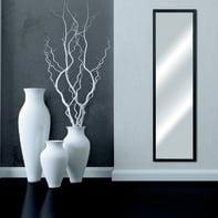 Specchio a parete rettangolare Bomber nero 34x124 cm