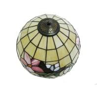 Plafoniera Tiffany multicolore, in vetro, 30x30 cm, diam. 30 cm, E27 MAX60W IP20