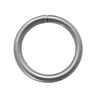Anelli Ø20mm Danau in metallo cromo satinato, 10 pz  INSPIRE