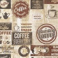 Carta da parati Coffee beige