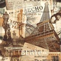 Carta da parati Parigi grigio