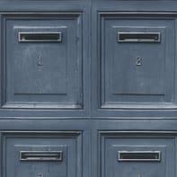 Carta da parati Posta blu