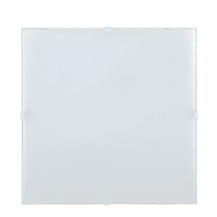 Applique classico Brixen bianco, in vetro, 25.8x25.8 cm,