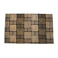 Passatoia Deco Brick , grigio, 53x53 cm