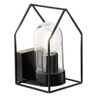 Applique Home in metallo, nero, E27 MAX60W IP44 BRILLIANT