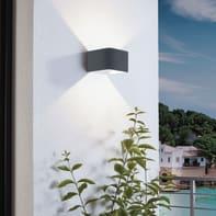 Applique Doninni LED integrato in alluminio, antracite, 5.4W 430LM IP44 EGLO