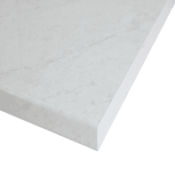 Piano cucina su misura in truciolare Marmo Apuano bianco , spessore 4 cm