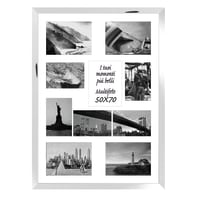 Cornice Las Vegas per 10 fotografie 13 x 18  argento<multisep/>bianco