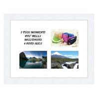 Cornice Maussane per 4 fotografie 10 x 15  bianco
