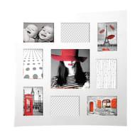 Cornice Onda per 9 fotografie 10 x 15 bianco