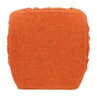 Cuscino per sedia con elastico Antonella arancione 40x40 cm