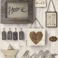 Carta da parati Home Sweet Home grigio