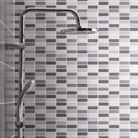 Piastrella per rivestimenti Sirio Muretto 20 x 50 cm sp. 7 mm mix grigio