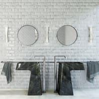 Piastrella per rivestimenti Biselado Carrara 10 x 20 cm sp. 8 mm bianco