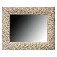 Specchio a parete rettangolare Floreal bianco 50x70 cm