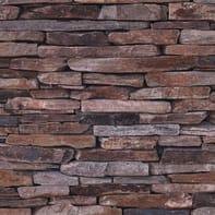 Carta da parati Listelle pietra marrone, 53 cm x 10.05 m