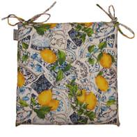 Cuscino per sedia Limoni Antimacchia giallo 40x40 cm