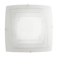 Plafoniera classico Concept bianco, in vetro, 30x30 cm, 2  luci