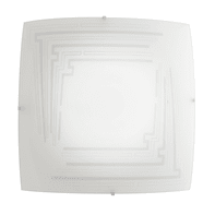 Plafoniera classico Concept bianco, in acciaio, 50x50 cm, 4  luci