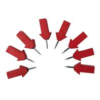 Puntina Puntine freccia in acciaio / pvc rosse 8 pezzi