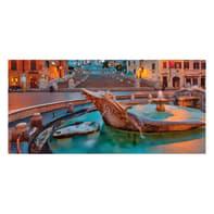 Pannello decorativo Roma barcaccia 210x100 cm