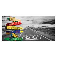 Pannello decorativo Route 66 210x210 cm