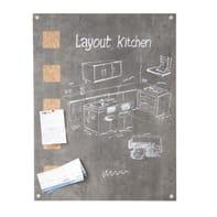 Lavagna per gesso living wall grigio 78x58 cm