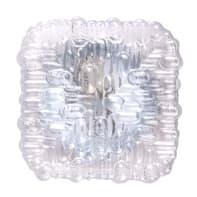 Plafoniera classico Giulietta trasparente, in vetro, 17x17 cm,