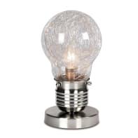 Lampada da comodino lampadina alluminio, trasparente, in vetro, E14 MAX 40W IP20