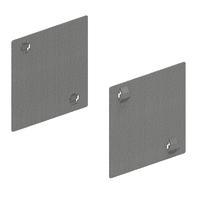 Supporto singolo in metallo per fissaggio scaffali L 9.5 x H 5 x P 0.1 cm grigio / argento