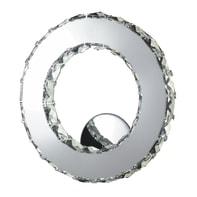 Applique neoclassico Melody LED integrato grigio, in vetro,