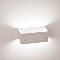 Applique design Carol LED integrato bianco, in metallo, 20 cm,