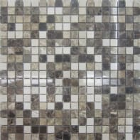 Mosaico Mineral Marble Mix Brown H 30.5 x L 30.5 cm marrone