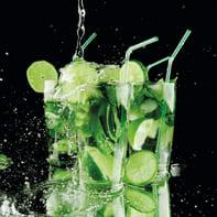 Quadro in vetro Mojito Drink 20x20 cm