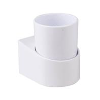 Bicchiere porta spazzolini Funky in plastica bianco