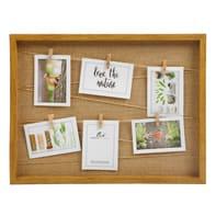 Cornice Juta per 6 fotografie 10 x 15  ciliegio
