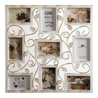 Cornice Old England per 9 fotografie 10 x 15  bianco