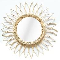 Specchio a parete tondo Victoria beige 50 cm
