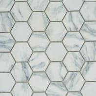 Mosaico Esagona H 30 x L 33 cm bianco e grigio