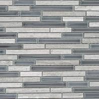 Mosaico Berlino H 29.5 x L 37 cm bianco e antracite
