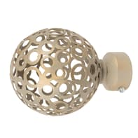 Finale per bastone Ø20mm Deserto sfera in ferro verniciato Set di 2 pezzi