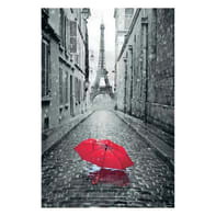Poster Paris ombrello red 61x91.5 cm