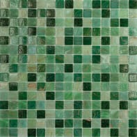 Mosaico Mix all H 32.7 x L 32.7 cm verde