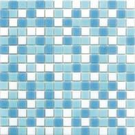 Mosaico Classic H 32.7 x L 32.7 cm bianco e azzurro