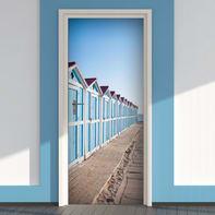 Sticker Beach cabins 9x96 cm