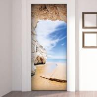 Sticker Beach cave 83x210 cm