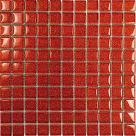 Mosaico Glitter H 30 x L 30 cm rosso