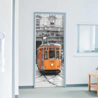 Sticker Milan tram 9x96 cm